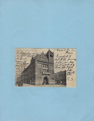 KNOXVILLE TN pc, Public Hall, 1907, Rotograph publ. udb. mailed to Pulaski, TN.