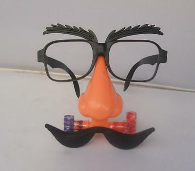 2018  Funny Novelty  Eye glasses with Big Nose and Mustache Mask kids toys