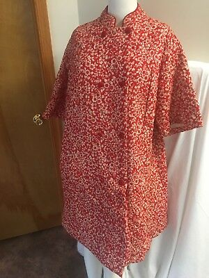 Vintage Quilted Housecoat /Robe Union Tag Sz Xl