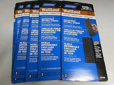 Norton Wallsand Drywall Screen 120 Grit Lot Of 6, 2 Packs 12 Sheets