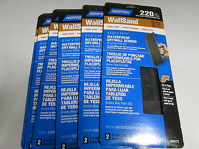 Norton Wallsand Drywall Screen 220 Grit Lot Of 6, 2 Packs 12 Sheets