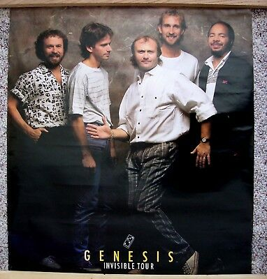Rare Vintage GENESIS poster - Mint - copyright 1986 - New in sleeve PHIL COLLINS