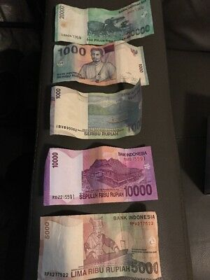 5 X Bank Indonesia Notes