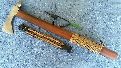 """M III Hand forged tomahawk combo""""exotic wood"""" l@@K"""