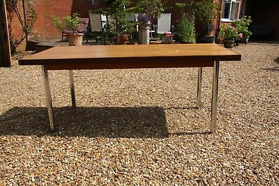 "72"" x 35.5"" Abbess Office Meeting Room Table Retro style circa 1970 will seat 6."