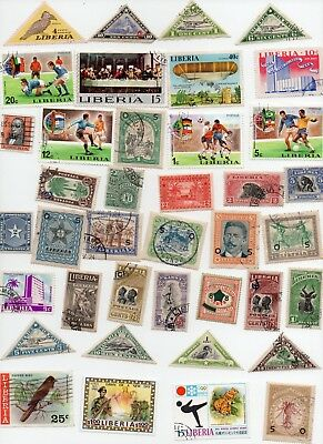LIBERIA Stamps 80 All Different - Off Paper
