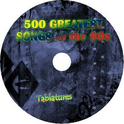 90s 90's GUITAR TAB CD TABLATURE SONG BOOK GREATEST HITS BEST OF MUSIC AUDIO