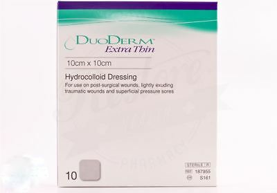 Duoderm Extra Thin 10cm x 10cm (10 pack) Hydrocolloid Dressing Exp. Date 02/2022
