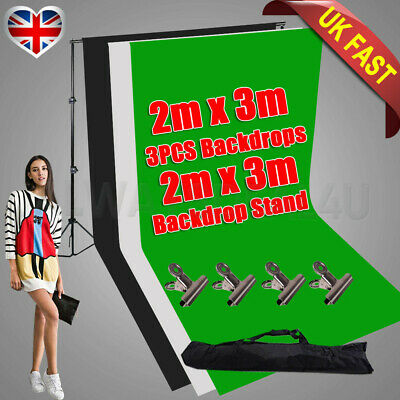 Photography Background Stand Video Screen 2.5x3m Adjustable Backdrop Support Kit