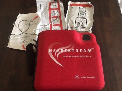 Agilent Heartstream FR2 AED With Pads And 2 Batteries Automatic defibrillator