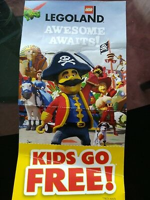 Legoland Windsor & Discovery Centre Kids Go Free Voucher Ticket Entry BOGOF