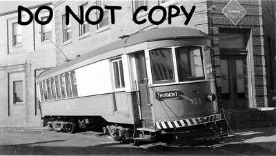 Hagerstown & Frederick Railway Car #171 at Hagerstown, MD B&W Photo