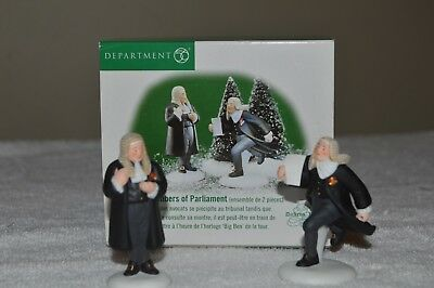 NEW Dept 56 Dickens Village Members of Parliament Accessories #58455