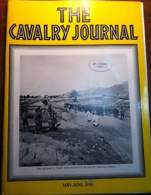 The Cavalry Journal Us Army Magazine Wwii May-June 1943