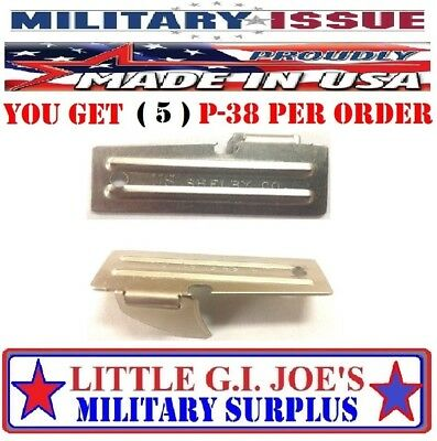 5 Shelby P38 Can Opener Army Military USMC Mess Kit Scout Vietnam C Ration Scout