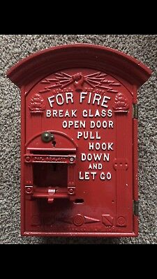 Early Gamewell Excelsior Cast Iron Fire Alarm Call Box