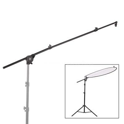 Extendable Photo Studio Photograph Reflector Diffuser Holder Stand Boom Arm K0I4