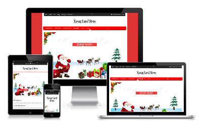 Responsive Online Shop Store Christmas Xmas Ecommerce WordPress Website Theme