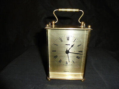 Antique/vintage 'Smiths' of Cricklewood/London brass carriage clock