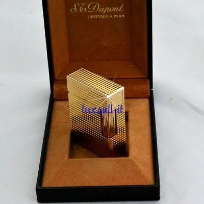 S.T. Dupont Accendino L1 PM Oro Punta di Diamante - Lighter Diamond Head Gold