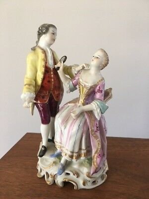 bone china figurine couple, very old, from grandma's cabinet in 1960's.