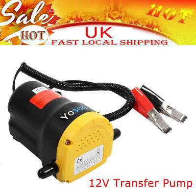 Electric 60W 12V Transfer Pump Extractor Oil Fluid Diesel Car Motor Free Ship UK