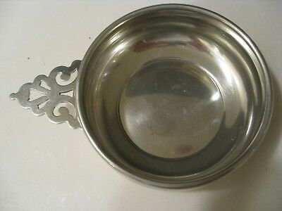 Empire Pewter - Porringer Bowl With Handle - Very Good Condition