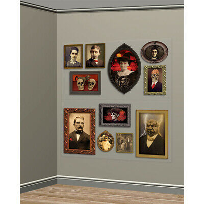 Gothic Halloween Party Scene Setter GOTHIC PORTRAITS Gallery Wall Decoration kit