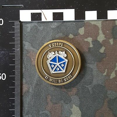 US Army Challenge Coin 5. Corps, Com. Sergeant Major