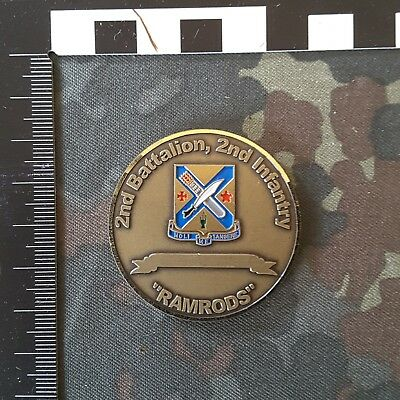 Challenge Coin  US Army Big Red One 2nd Bat 2nd Inf Ramrods
