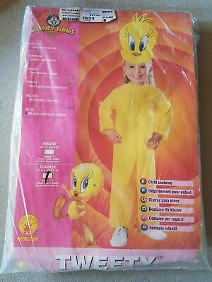 O NEW Child Rubies Looney Tunes Tweety Halloween Costume Size Toddler