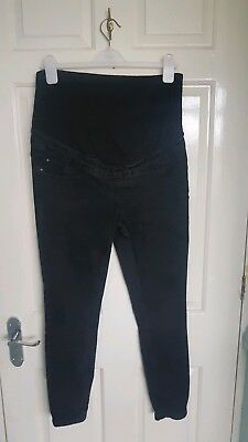 New Look Over The Bump Black Skinny Maternity Jeans Size 12