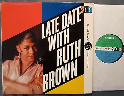 Blues LP RUTH BROWN Late Date With... ATLANTIC (USA, 1959) early 60's pressing