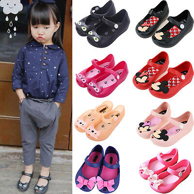 Kids Girl Princess Jelly Shoes Toddler Summer Beach Party Casual Cartoon Sandals