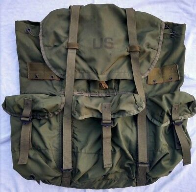 US Military Combat Field Pack Nylon Large LC-1 OD Green ALICE Ruck Sack No Frame