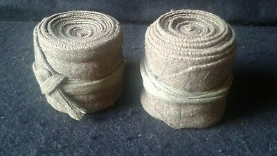 WW1 Wool Leggings or Wraps Issued And Worn Condition