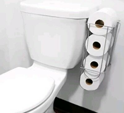 Evelots Side Of Tank Toilet Paper Holders Storage Easy Organizer