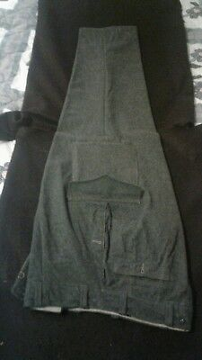 World War II German Officer's Grey Wool Four Button Pants Ex Con.