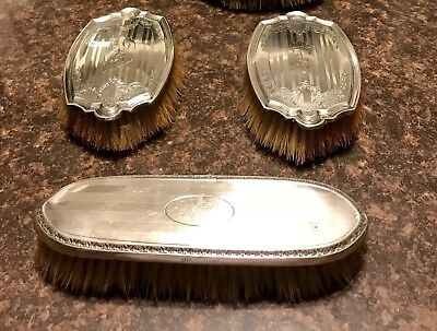 Alvin Sterling Silver Vintage Vanity Set Brushes