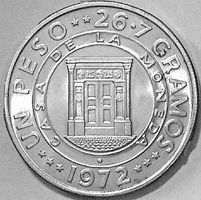 Dominican Republic 1972 1 Peso Central Bank Anniversary Commemorative