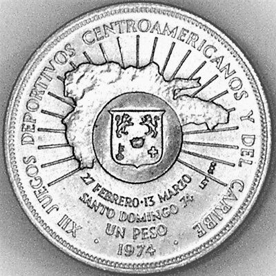 Dominican Republic 1974 1 Peso XII Games Commemorative