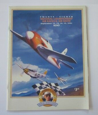 1991 Reno Air Race And Air Show Program