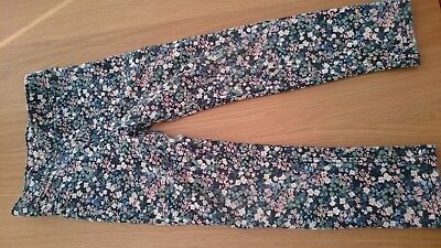 H and M Girls Floral Jeggings Age 6-7