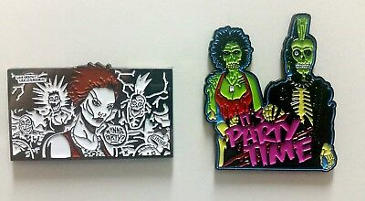 Enamel Horror Pin Set - 2 Return of the Living Dead Pins - Trash Party Time!