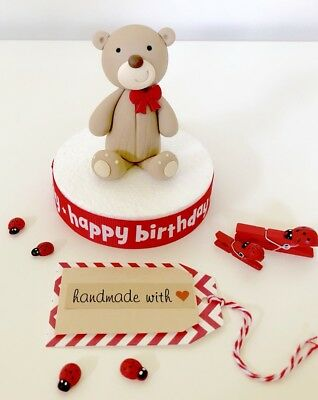1 Edible Bear Cake Topper For Baby Shower First Birthday Cake Christening