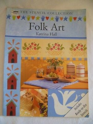 Folk Art Stencil Collection Katrina Hall Ready to Use Stencilling Paint Book