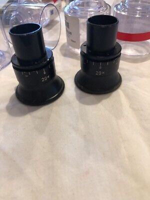 Carl Zeiss 20x Pair Of  Push In HEP Eye Pieces