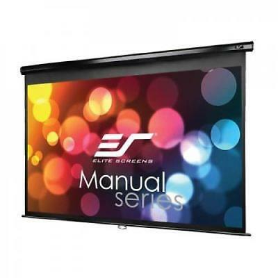 Manual Projector Screen with Auto Lock Pull Down Projection 150-inch 16:9 Ratio