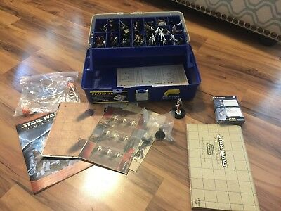 star wars miniatures clone strike, lot of 57. Includes rare Jedi and Sith