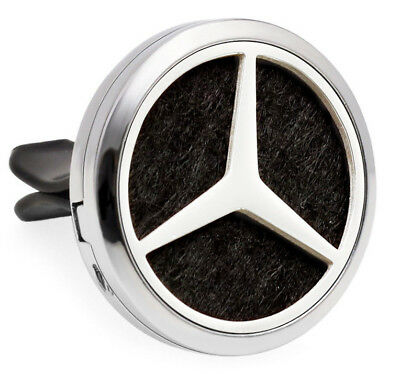 Mercedes-Benz Logo, Car Vent Air Freshener Fragrance Refillable 10m oil 7pads